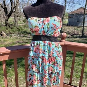 JRS. Rue 21 Floral Ruffle Strapless Summer…